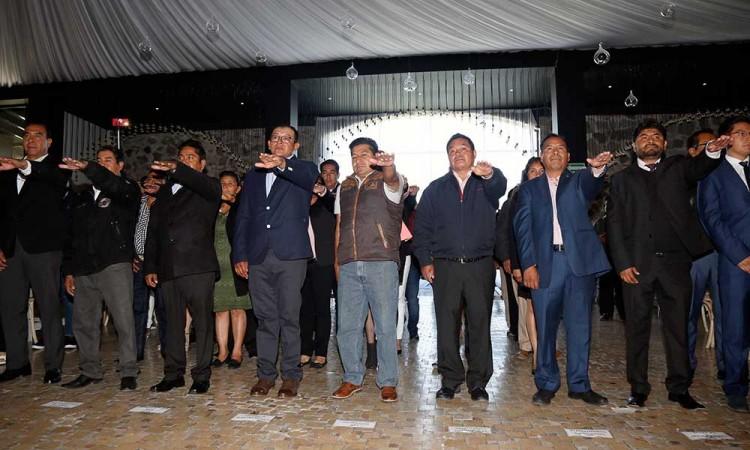 Asumen nuevos presidentes auxiliares e inspectores de San Andrés Cholula