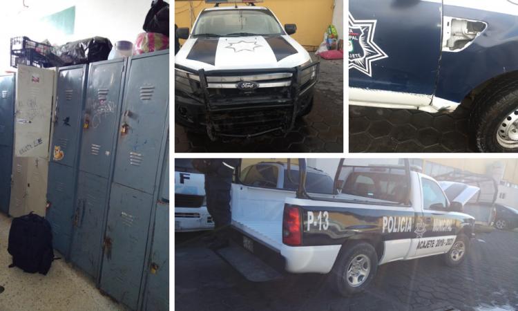 Enfrentan policías de Acajete pésimas condiciones de trabajo