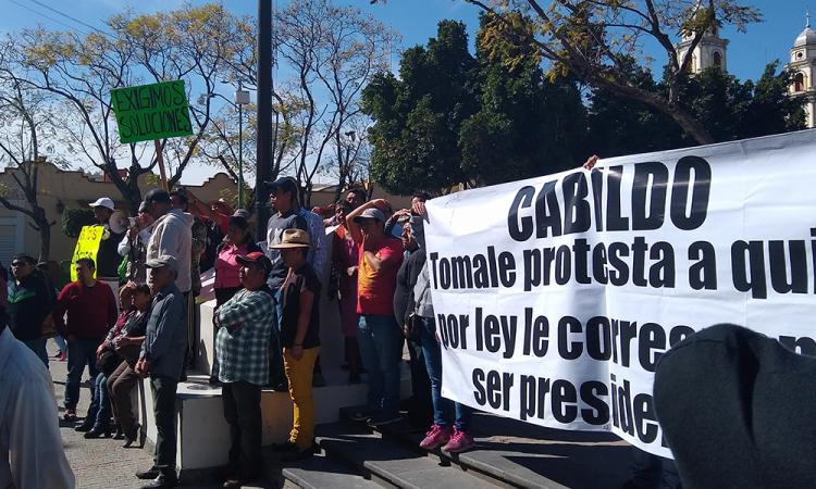 Piden tomar protesta a alcalde suplente en Tehuacán