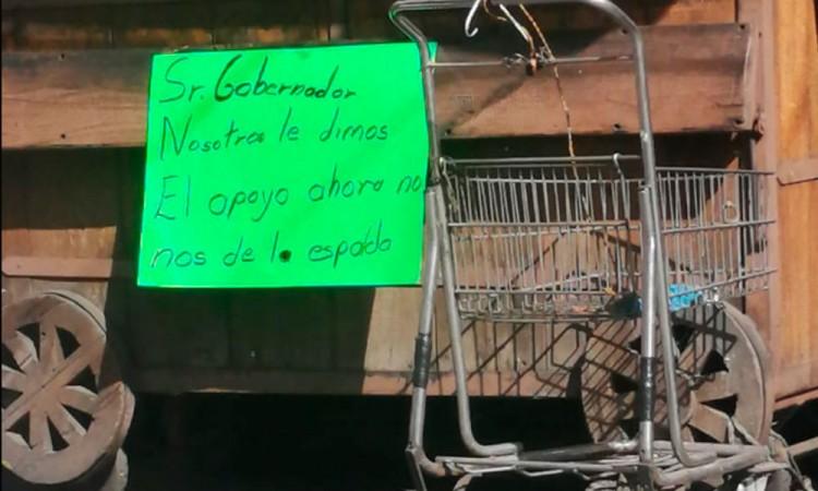 Exigen comerciantes de Texmelucan libertad de presos