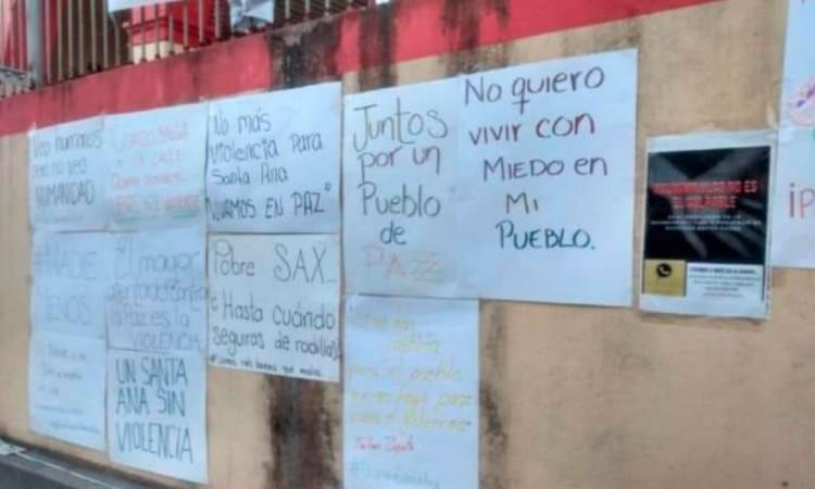 Exigen paz y seguridad en Santa Ana Xalmilulco