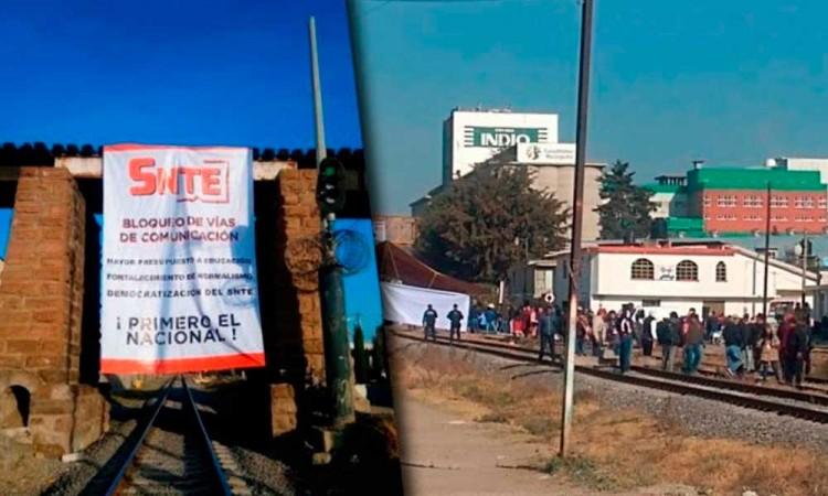 Piden a maestros liberar vías férreas