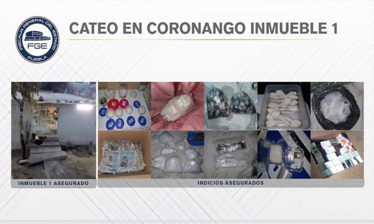 Fiscalía asegura más de 100 dosis de droga en cateos