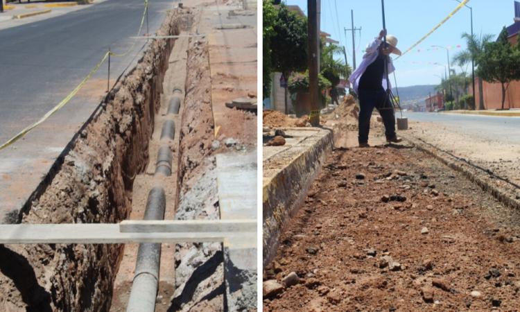 Rehabilitan drenaje sanitario en Tecomatlán