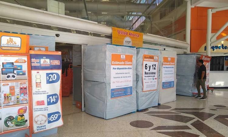 Supermercados se blindan por posibles saqueos en Tehuacán