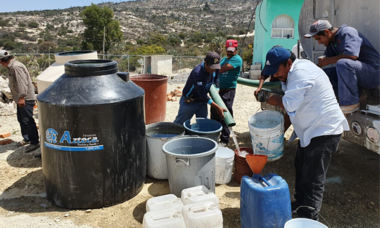 Abastecen agua potable a Cumbre de Chicometepec