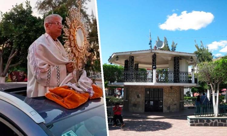 Recorren calles de Izúcar con reliquias para alejar el COVID-19