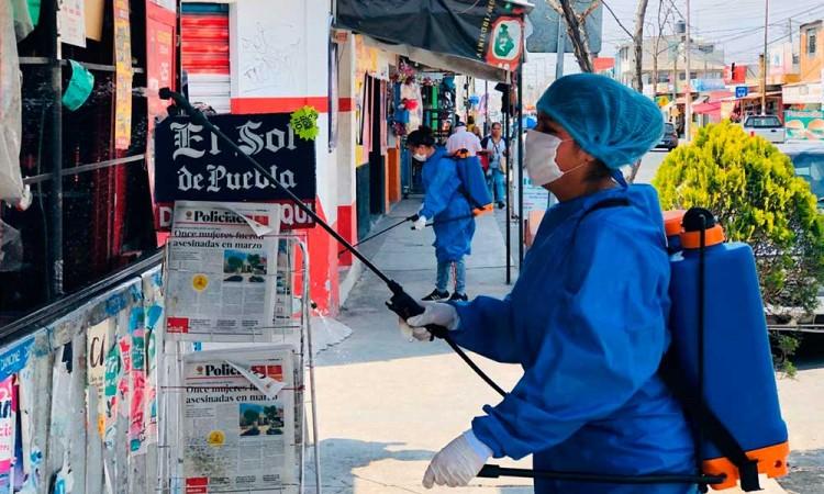 Realizan jornada de desinfección en Balcones del Sur