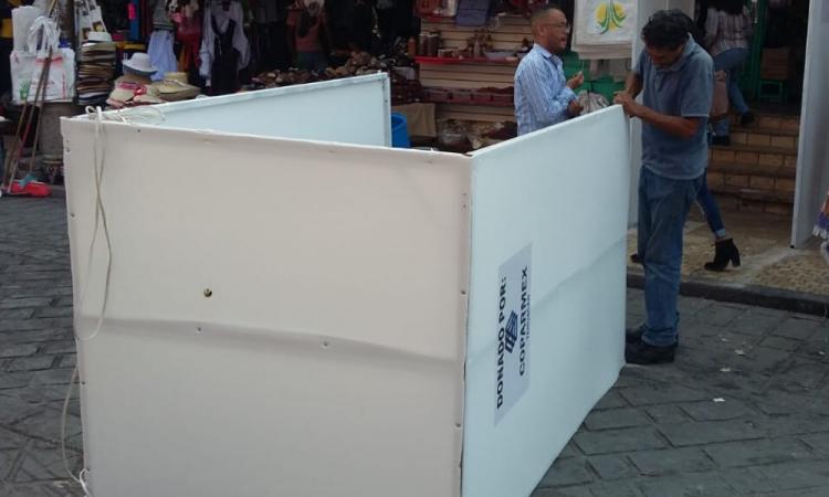 Suspenden cabinas sanitizantes en Tehuacán
