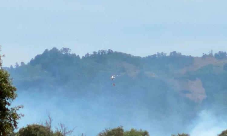 Sofocan incendio de Zacatlán después de 4 días