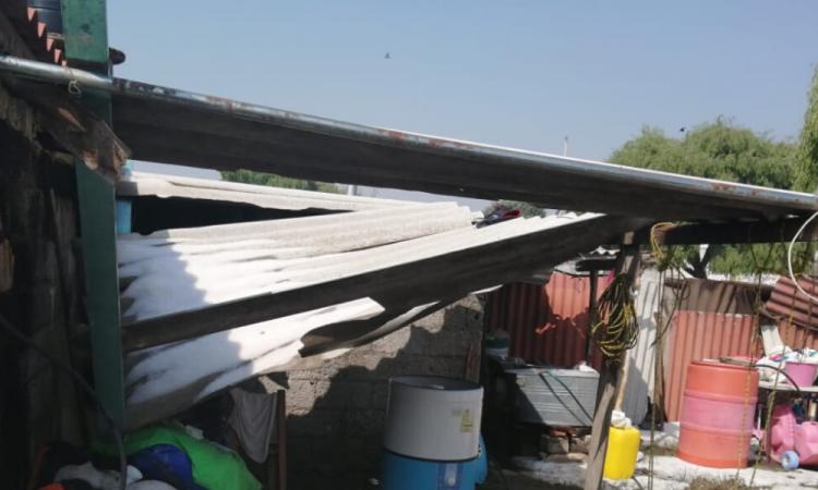 Granizadas dejan más de 50 viviendas dañadas en San José Chiapa