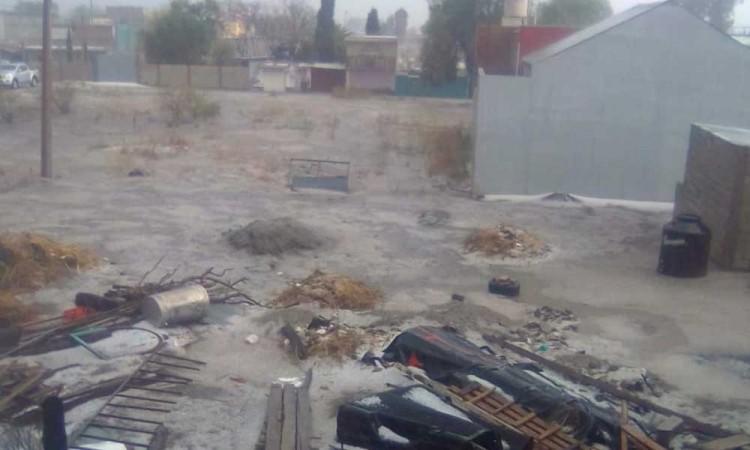 Granizada causa destrozos en viviendas y cultivos de Tecamachalco