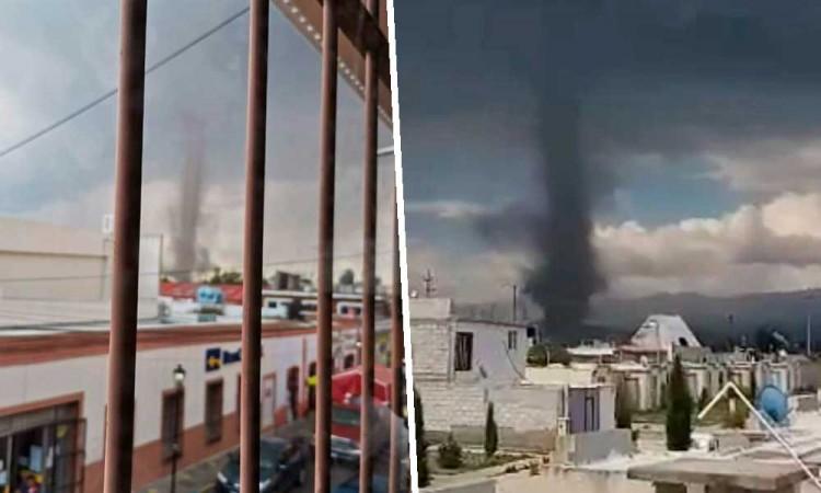 Siguen azotando torbellinos en Puebla, ahora en Ciudad Serdán