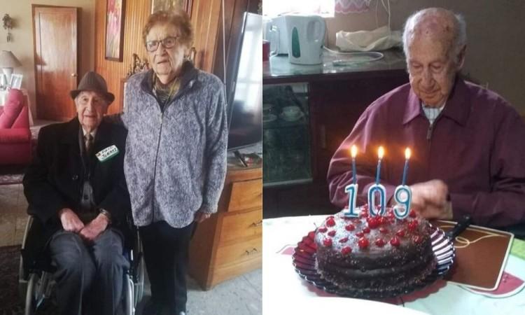 Celebran cumpleaños 109 a abuelito en Teziutlán