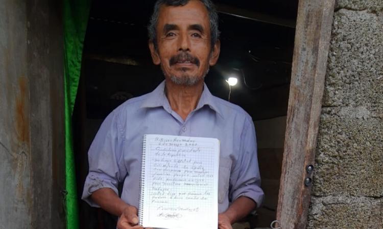 En Olintla solicitan apoyos alimentarios a AMLO