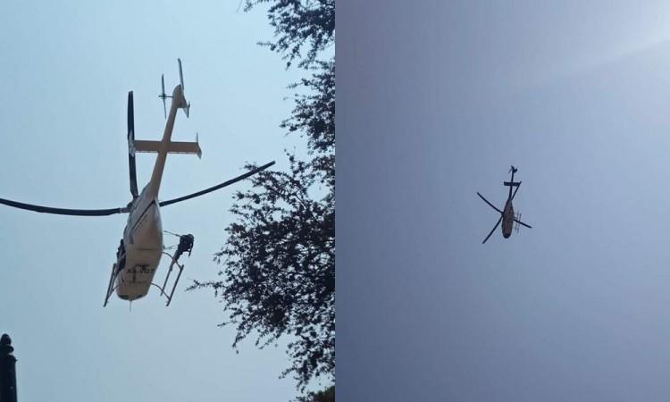 Vuelo de helicóptero sobre Izúcar alarma a la población
