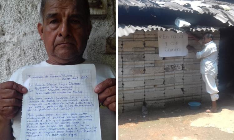 Piden habitantes de Tuzamapan apoyo alimentario