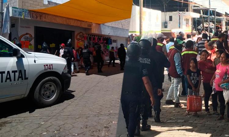 Con decomiso y granaderos frenan a comerciantes de La Purísima