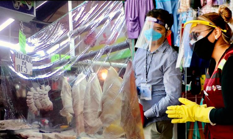 Locatarios implementan medidas sanitarias en mercado 16 de Marzo para evitar cierre