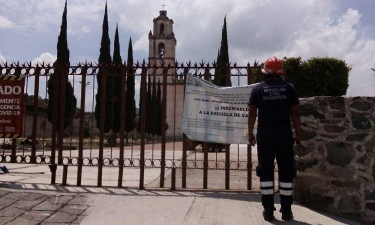 Sismo deja socavón en la junta auxiliar de Santa Rosa Tecamachalco