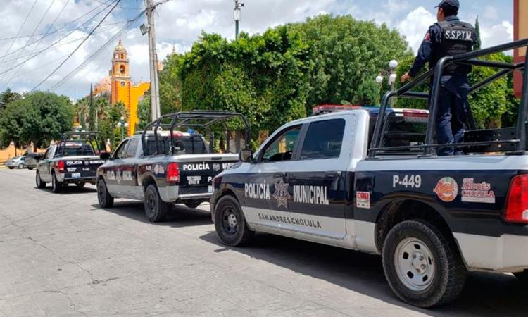 Continúan acciones en Seguridad en San Andrés Cholula