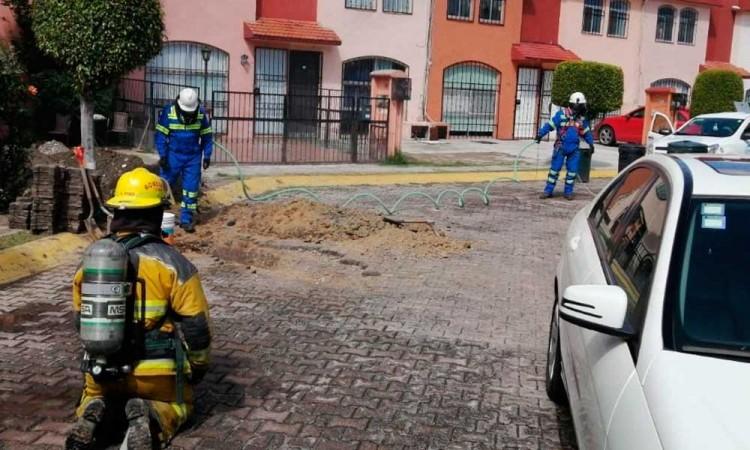 Por fuga de gas, desalojan 40 personas en Cholula