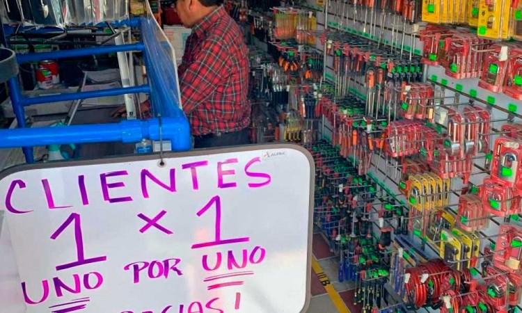 Comerciantes de Texmelucan ponen el ejemplo e implementan medidas de sanidad