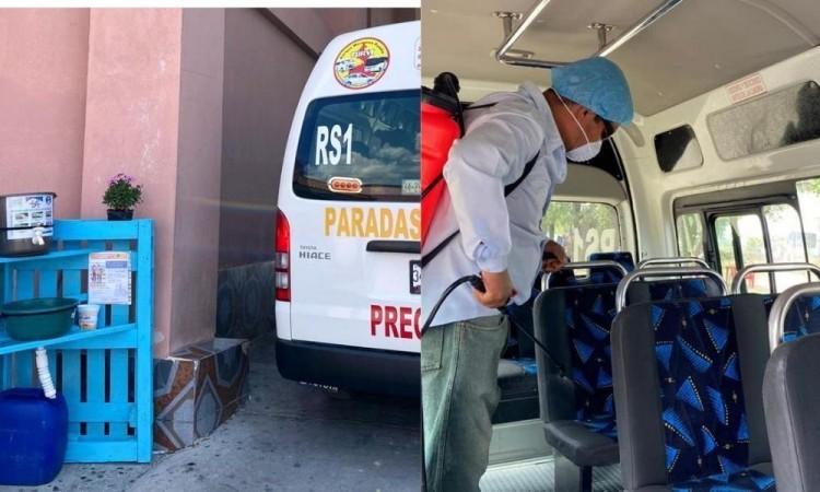 Supervisan que transporte público cumpla con la sana distancia en Tepeaca