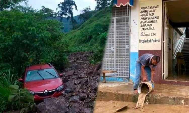 Fuertes lluvias dejan afectaciones en la Sierra Norte