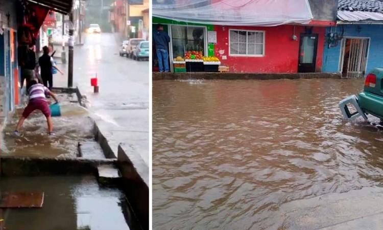 Malas obras provocan inundaciones en varias colonias de Teziutlán