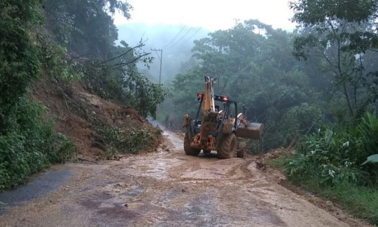 Afectaciones por lluvias en cuatro municipios ya son atendidas en Puebla