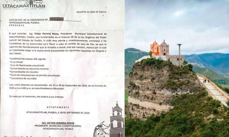 Remueven sin consenso a seis jueces de paz en Ixtacamaxtitlán
