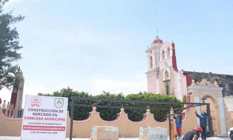 Obra de remodelación de la plaza de Huaquechula costará 2 millones de pesos