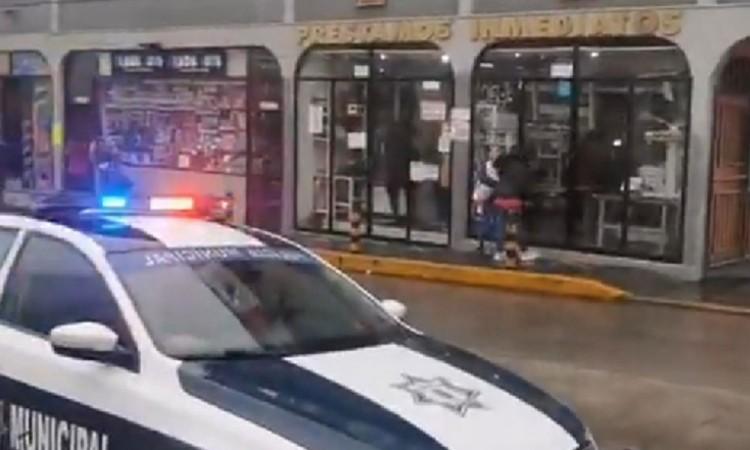 Alerta a Casa de empeño paquete sospechoso en Teziutlán