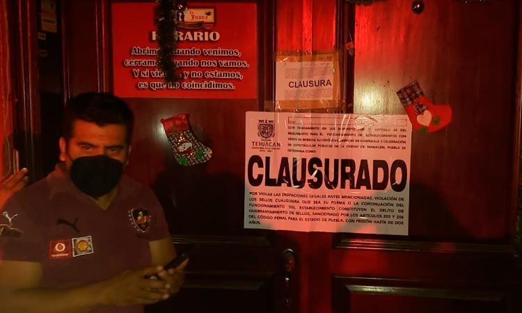 Clausuran 5 restaurant-bar y suspenden 6 en operativos Covid en Tehuacán