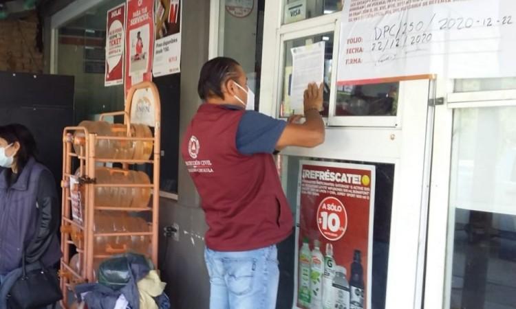 En San Andrés Cholula se clausuró la tienda Super Extra.