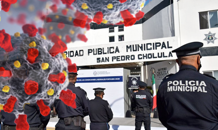El titular de la SSC de San Pedro Cholula, Fernando Fierro Aldana.