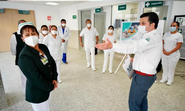 Avanzan obras de rehabilitación en Hospital General del IMSS en Atlixco