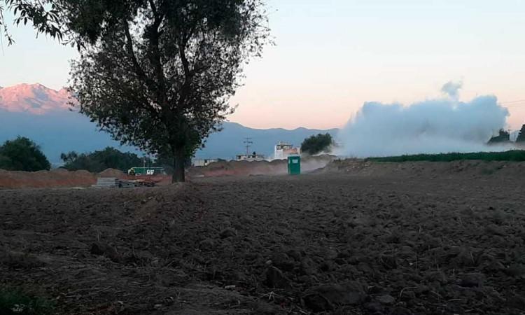 Tras desalojar a 500 personas de Texmelucan y laborar más de ocho horas, autoridades sellan fuga de gas