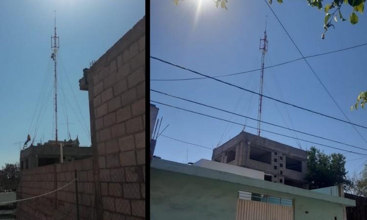 Se inconforman vecinos de Tehuacán por instalación de antena de radiocomunicación