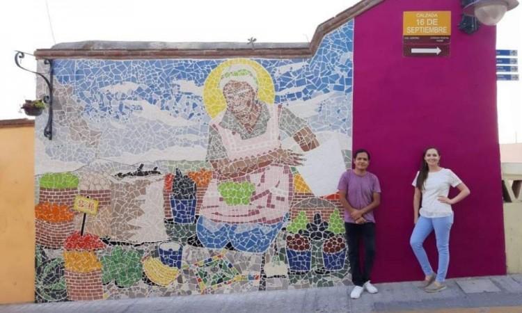 Presentan en Atlixco el mural 'Martes de Tianguis y sábado también'
