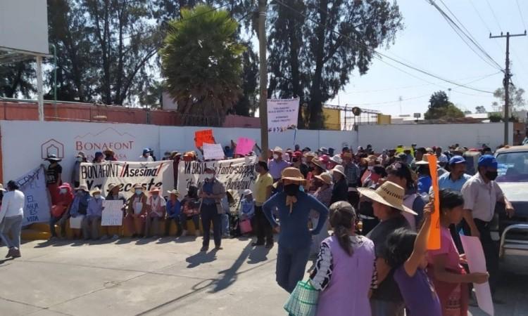 Piden clausura de Bonafont ante sequia de pozos en Juan C Bonilla