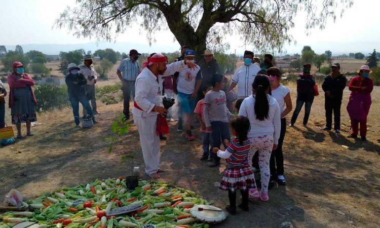 Realizan ritual por Dia de la Tierra en Acatzingo