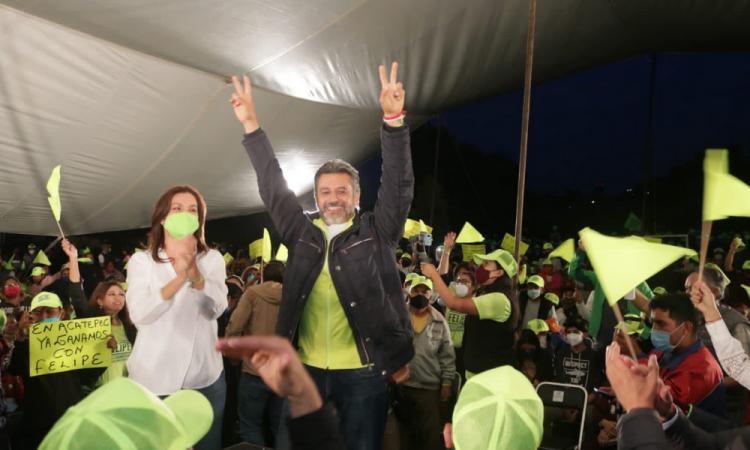 Felipe Sandoval cierra campaña y llama al voto