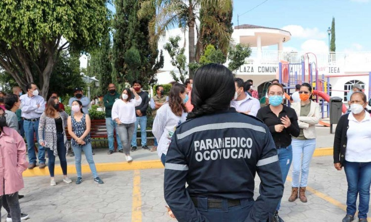 Realizan 1er simulacro nacional 2021 en Ocoyucan