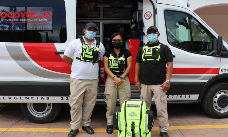 ¡Los buenos son más! Entregan en Ocoyucan suministros a paramédicos