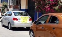 Irrumpen tranquilidad de Atlixco caravanas a favor y en contra de AMLO