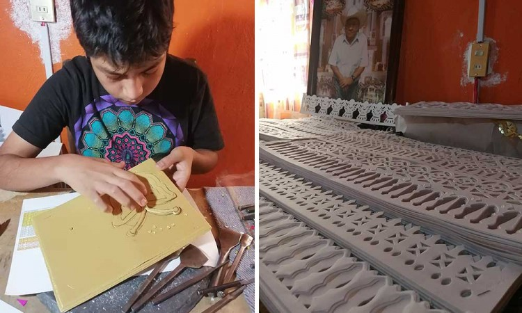La familia Copantitla preserva el arte del Papel Picado para los altares de Huaquechula