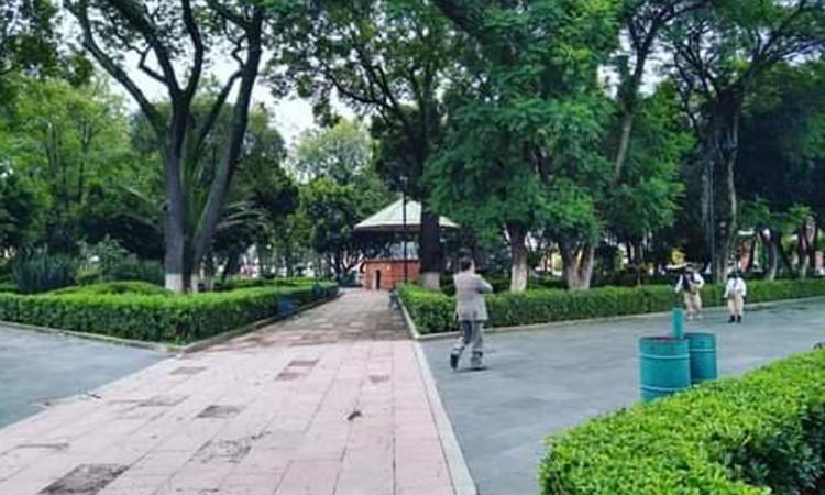 Reabren parque de San Pedro Cholula tras permanecer cerrado por la pandemia del Covid-19.