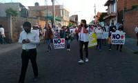 Marchan en Huejotzingo para exigir paz y seguridad
